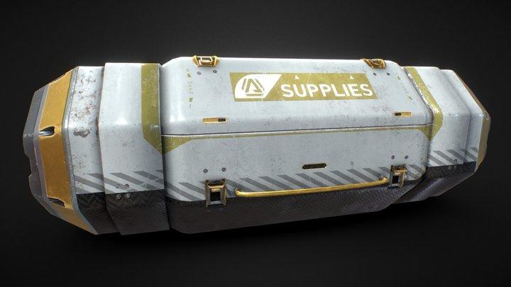 Apex Legends Loot Bin - Gold Variation 3D Model