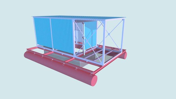 Гараж для лодки 2 3D Model