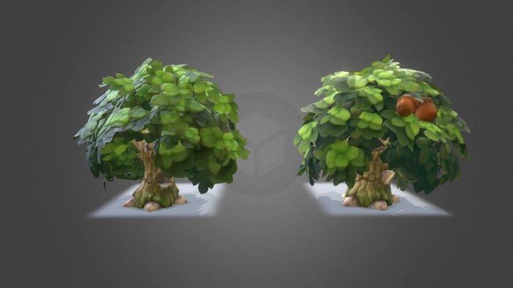 LowPoly Trees 2k 3D Model