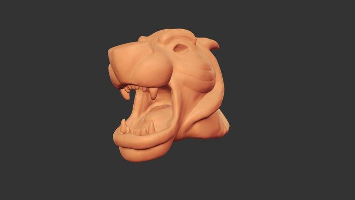 Sculpt January 2018 - day 18 - Cave 3D Model
