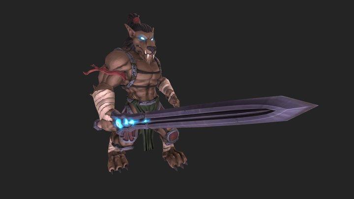 Death Knight Worgen 3D Model