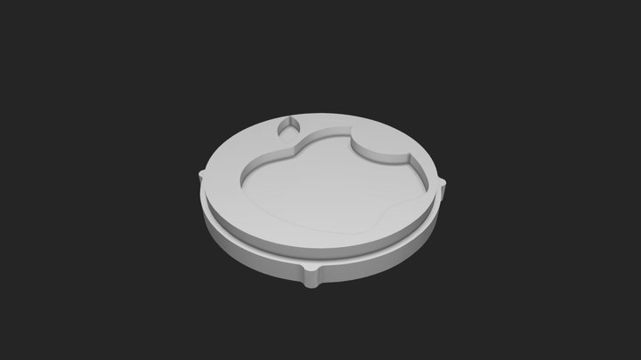 5th Generation iPod Center Button 3D Model
