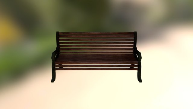 Free Parkchair 3D Model