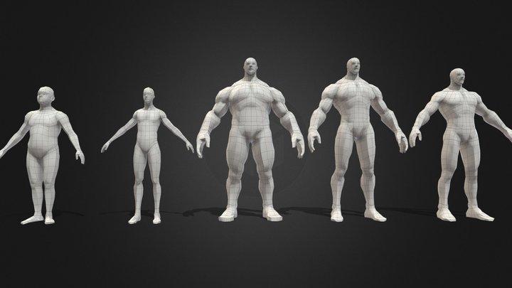 Male-Game Character Basemeshes  Starter Kit 3D Model