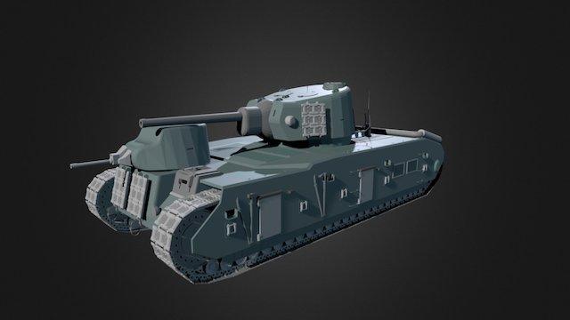 AMX Tractuer C 1940 3D Model