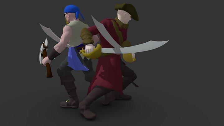 Pirate Pair 3D Model