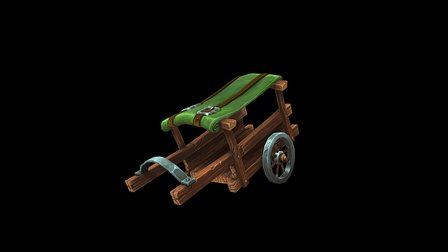 Hand Painted Cart 3D Model