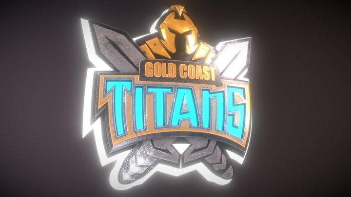Gold Coast Titans Emblem Concept 3D Model