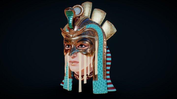 Egypt Mask - Cleopatra 3D Model