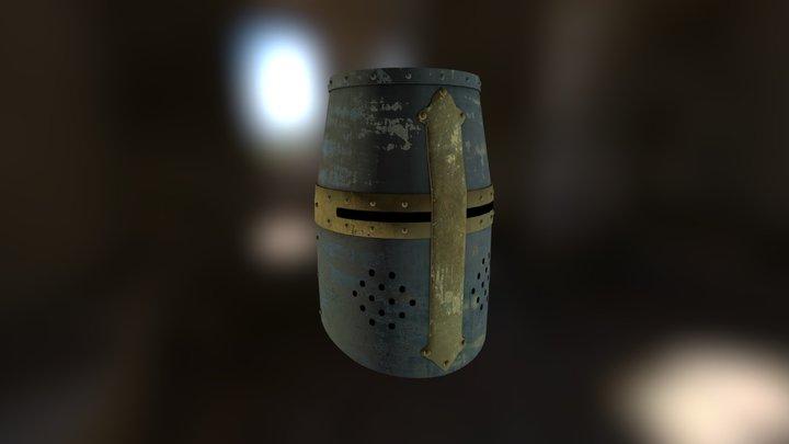 Medieval Great Helmet 3D Model