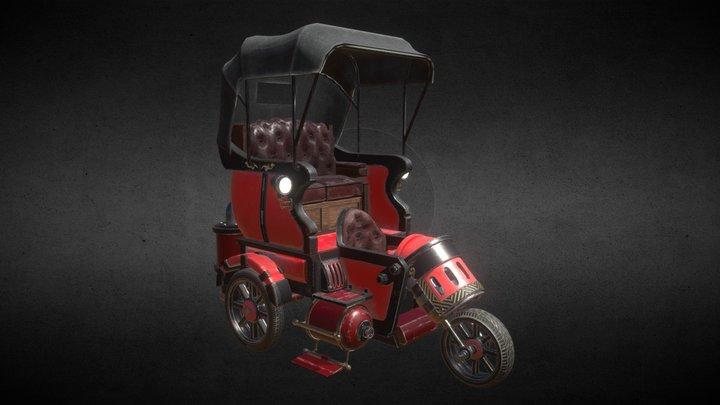 SteamPunk Car 3D Model