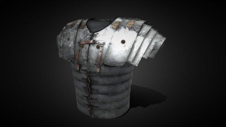 Roman Lorica segmentata armor 3D Model