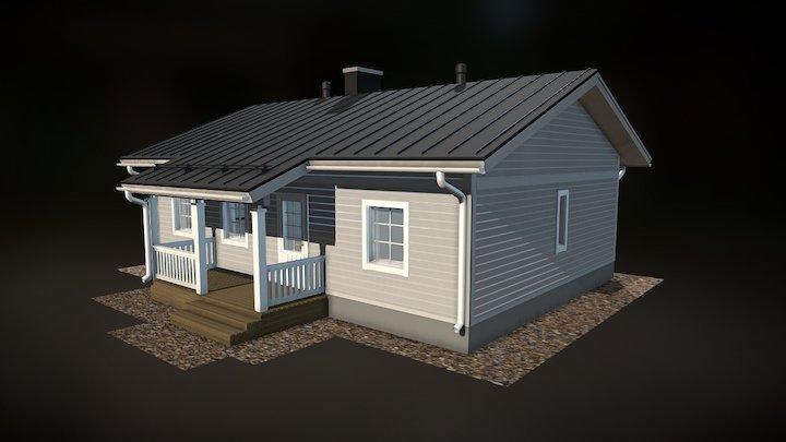 Julkisivukuva rakennuksesta 3D Model