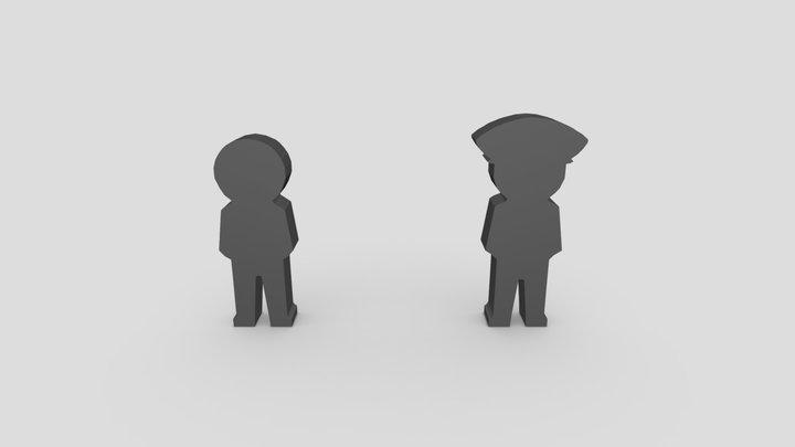 Custom Meeples 3D Model