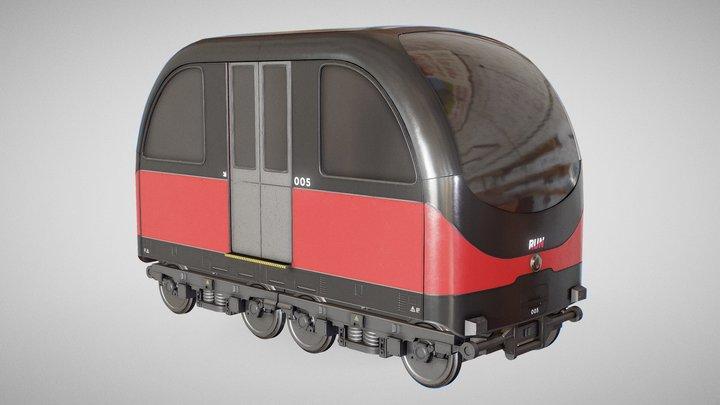 RUN - Urban Train Concept (3D Printable) 3D Model