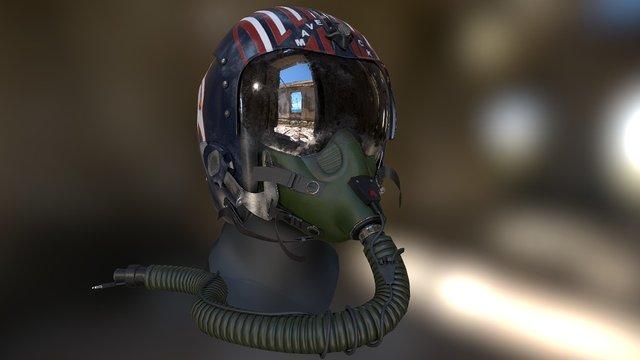 PBR Pilot Helmet HGU33 3D Model