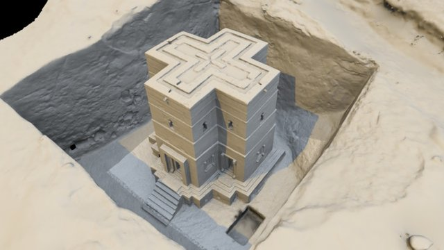 Beta Giorgis, Lalibela, Ethiopia 3D Model