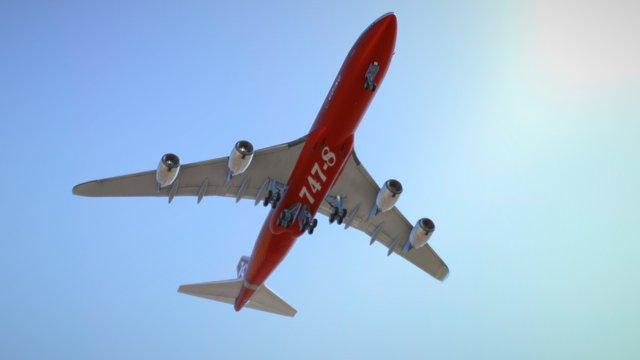 Boeing 747 international. 3D Model