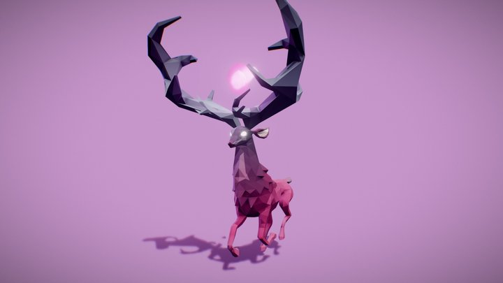 Fantasy Deer - Locomotion Animations 3D Model
