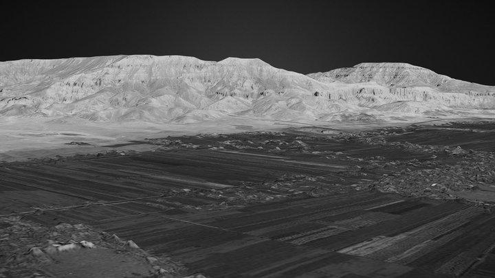 Theban Mountain (Thebes, Luxor, Egypt) 3D Model