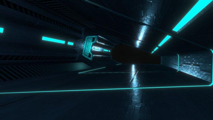 Tron tunnel 3D Model