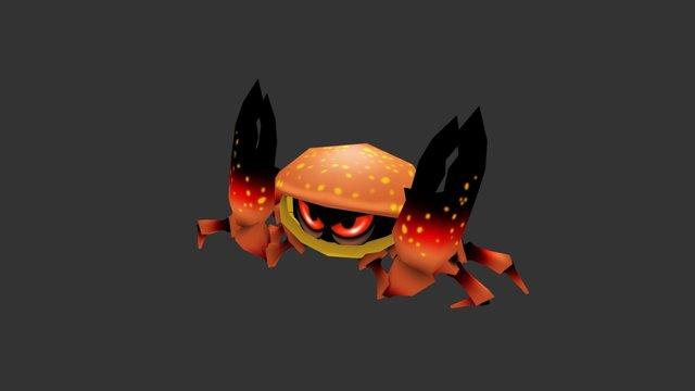 Cartoon Stone Crab 3D Model