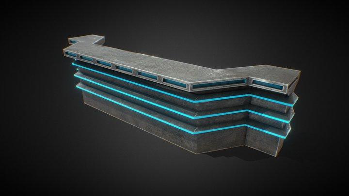 Bar - Canteen Tabern Neon and metal  バウンティハンタ 3D Model