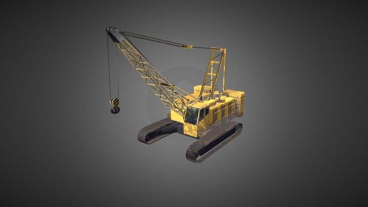 Crawler crane 02 3D Model