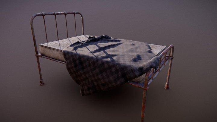 Old hospital bed (PBR GR) 3D Model