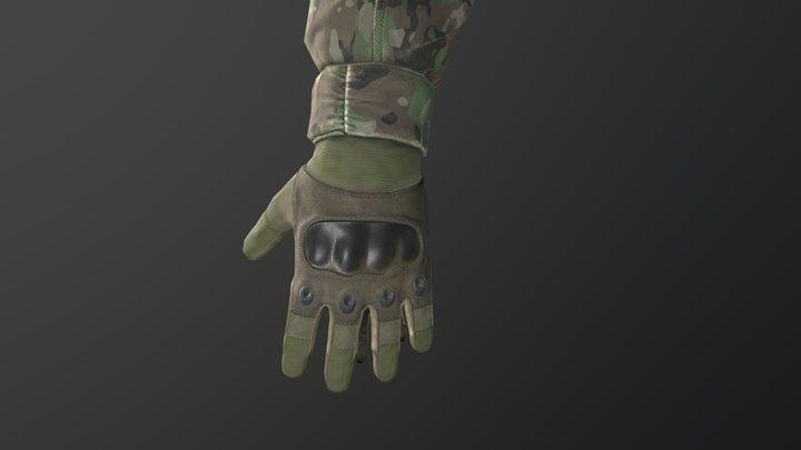 Gloves for fps game 3D Model
