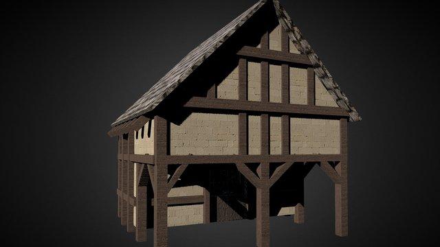 Medieval house. 3D Model