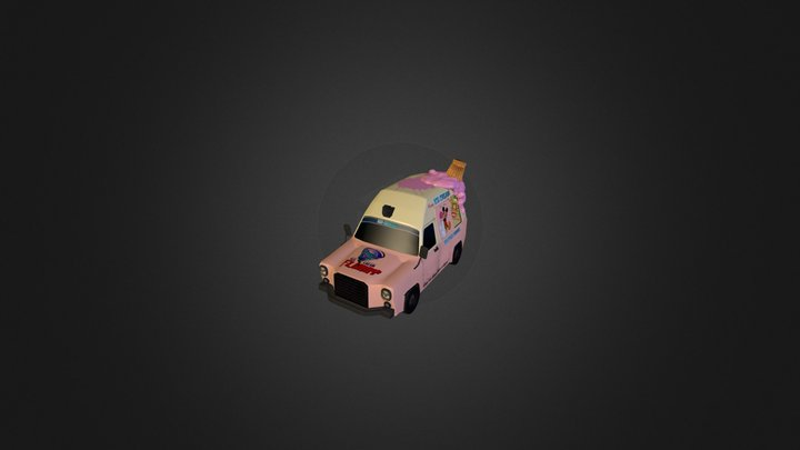 Icecream Truck for a mobile game 3D Model
