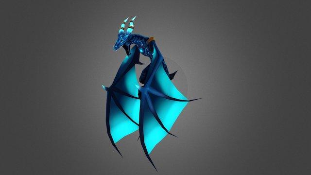 Dragon_Anim_FireBall_Flight 3D Model