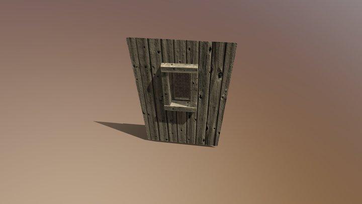 Wooden Wall Window 3D Model