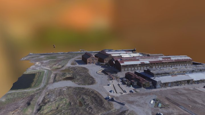 Old Sacramento Rail yards 3D Model