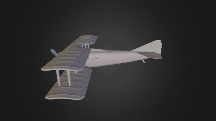 wip airplane finished model no tex 3D Model