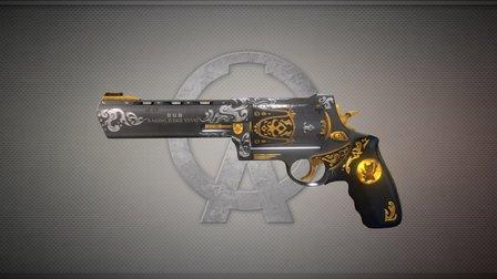 愤怒的地狱喵•霰弹左轮手枪 3D Model