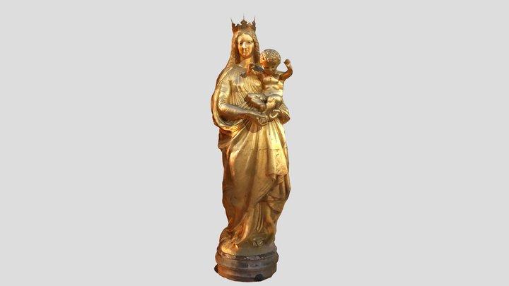 Statue Notre Dame de La garde / Marseille 3D Model