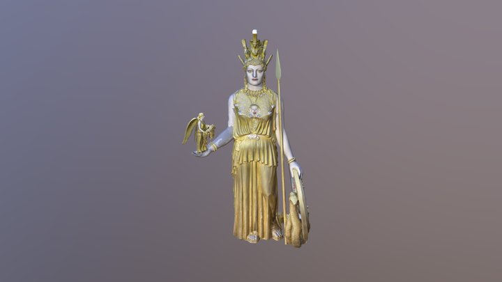 Nashville Athena Cult Statue WIP 3D Model