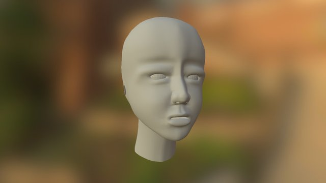 6 generation human face test. 3D Model
