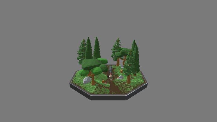 A Walk Through Forest 3D Model