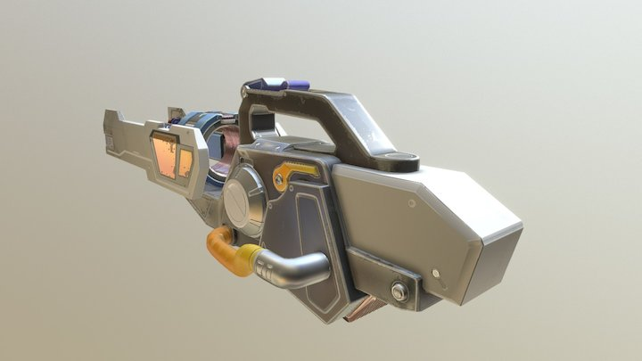 3D reproduction of an OverWatch Weapon 3D Model