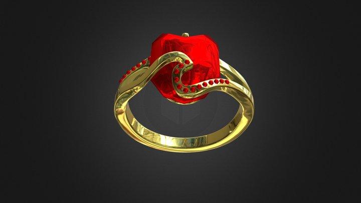 Gold Ring For Female 3D Model