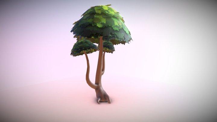 Oak Tree Test 3D Model