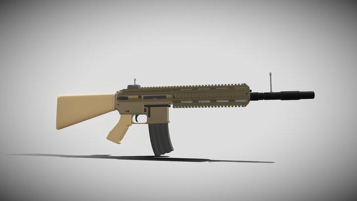HK416 (Free Model) 3D Model