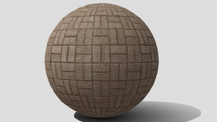 Seamless paving stone texture 3D Model