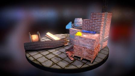 Construction site scene 3D Model