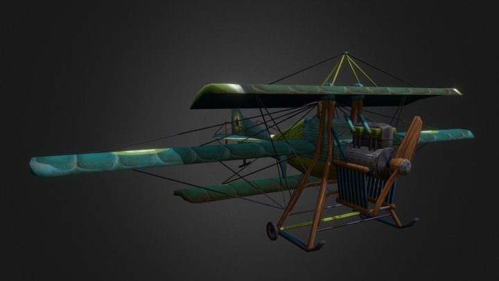 Stylized Bataille Triplane 3D Model