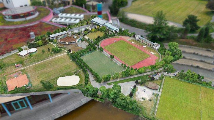 Landessportschule Bad Blankenburg 3D-Karte 3D Model