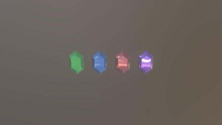 Legend of Zelda-OoT: Rupees Basic 3D Model